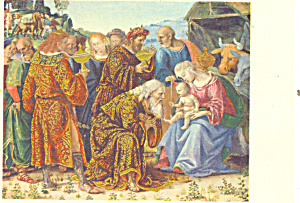 Adoration of the Magi Luca Signorelli Postcard p21140 (Image1)