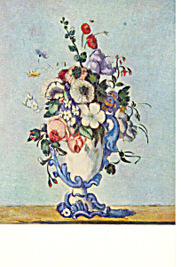 Vase of Flowers Paul Cezanne Postcard p21147 (Image1)