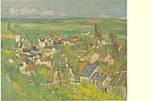 Auvers Village Panorama Paul Cezanne Postcard p21148 (Image1)