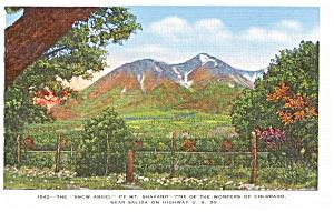 Snow Angel Mt Shavano CO Postcard p2114 (Image1)