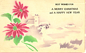 Best Wishes For A Merry Christmas Postcard P21173