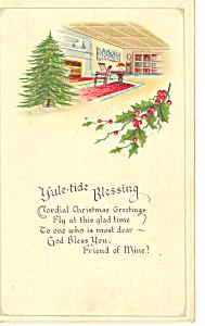 Yultide Blessing Postcard p21185 (Image1)