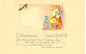 Christmas Greetings Postcard p21192 (Image1)