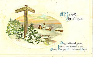 A Merry Christmas Postcard p21199 (Image1)