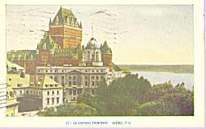Chateau Frontenac Quebec Canada P21259