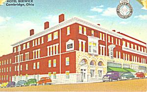 Hotel Berwick  Cambridge  Ohio Postcard p21265 (Image1)