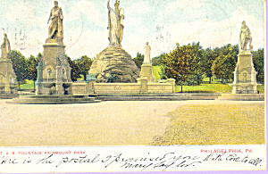 T A B Fountain Fairmont Park Philadelphia PA p21396 (Image1)