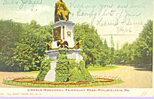 Lincoln Memorial Fairmont Park Philadelphia PA p21398 (Image1)