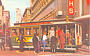 Powell And Hyde St Cable Car Of San Francisco Ca P21412