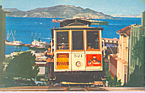 Hyde St Cable Car Of San Francisco Alcatraz P21415