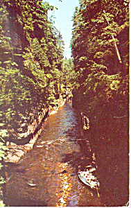 Boat Ride Ausable Chasm New York Postcard P21488