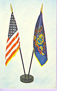 US and Pennsylvania Flag Desk Set p21502 (Image1)