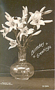 Birthday Greetings-RPPC on Bromide Paper (Image1)