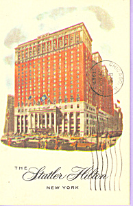 Statler Hilton New York City Postcard P21529