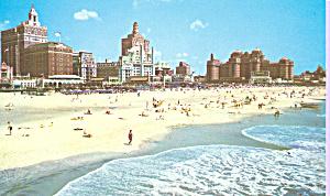 Beach and Skyline,Atlantic City New Jersey p21691 (Image1)