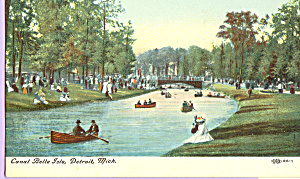 Rowboats Canal Belle Isle  Detroit,Michigan p21736 (Image1)