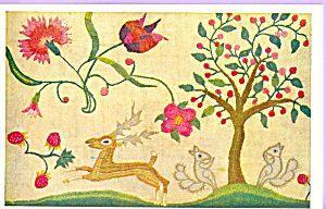 Crewelwork Deer and Squarrel (Image1)