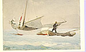 Stowing Sail Bahamas Winslow Homer Postcard p21802 (Image1)