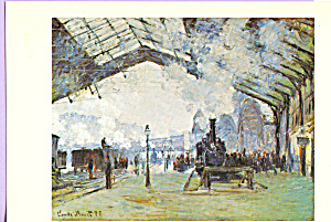 Old St Lazare Station, Paris, Claude Monet (Image1)
