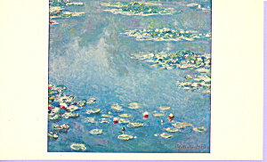 Water Lilies Claude Monet Postcard p21805 (Image1)