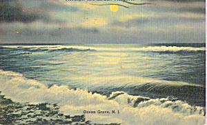 Moonlight Tints The Surf With Silver Postcard P21846