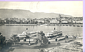 Ships at Dockside RPPC p21914 (Image1)