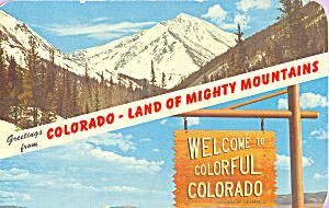 Rocky Mountains Welcome Sign Colorado p21949 (Image1)