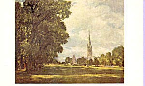 A View of Salisbury Cathedral  Constable Postcard p22019 (Image1)