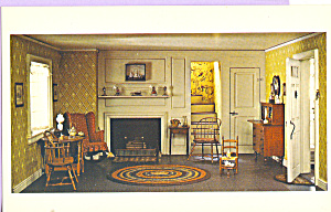 Living Room Cape Cod Cottage Postcard p22026 (Image1)