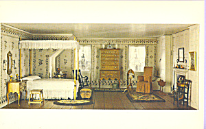 Bedroom New England Postcard p22028 (Image1)