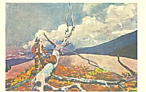Woodsman and Fallen Tree Winslow Homer Postcard p22032 (Image1)