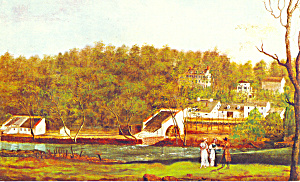 Eleutherian Mills Painting Hagley Museum DE Postcard p22077 (Image1)