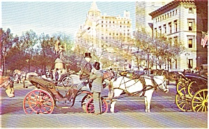 New York NY Carriages Postcard p2207 (Image1)
