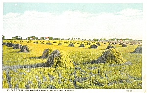 Salina KS Wheat Stakes Postcard (Image1)