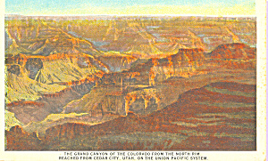 North Rim of the Grand Canyon National Park AZ Union Pacific Railroad p22156 (Image1)