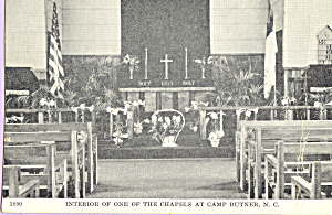 Interior of Chapel, Camp Butner, North Caroina (Image1)