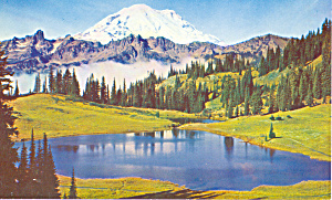Mt Rainier and Tipsoo Lake, Washington (Image1)