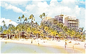 Honolulu Hi Hilton Hawaiian Village Postcard P2230