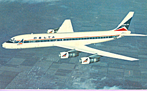 Delta Airlines Dc-8 Fanjet Airline Issue P22328