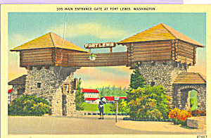 Main Entrance Gate,Fort Lewis, Washington (Image1)