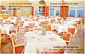 St Jean Port Joli Restaurant Canada Postcard p2235 (Image1)