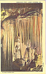 Saracen S Tent Luray Caverns Virginia Postcard P22440