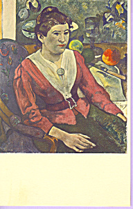 Marie Henry by Paul Gauguin Postcard p22604 (Image1)
