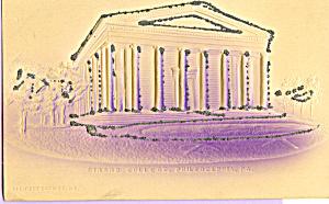 Girard College Glitter on Postcard Philadelphia PA  p22616a (Image1)