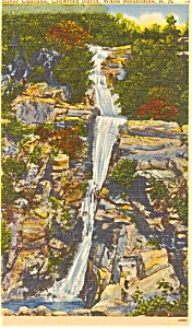Crawford Notch NH Silver Cascade Postcard (Image1)