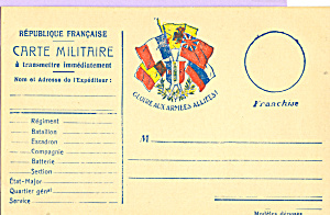 Carte Militaire Republique Francaise p22832 (Image1)
