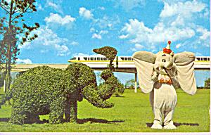 Strolling Topiary Lane and Monorail Walt Disney World  p22888 (Image1)