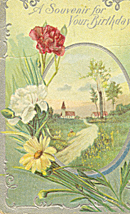 A Souvenir for Your Birthday Postcard p22900 (Image1)