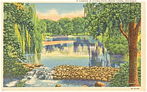 Battle Creek MI Irving Park Postcard (Image1)