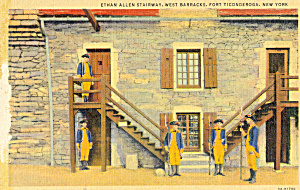 Ethan Allen Staircase Fort Ticonderoga New York p22950 (Image1)